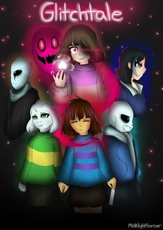AU Glitchtale: The Bete Noire by MidNightSorcer