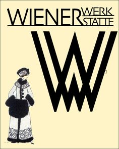 GRAPHIC DESIGN - InDesign example of a page layout on the Wienerwerkstatte art movement.