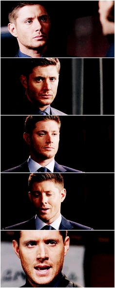 [gifset] 10x05 Fan Fiction #SPN #Dean - Jensen's face looking straight to the camera was Perfect