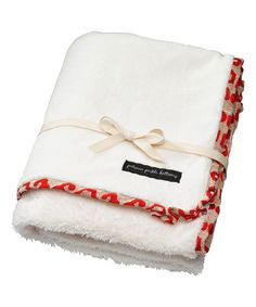 This 20'' x 33'' Persimmon Spice Receiving Blanket is perfect! #zulilyfinds