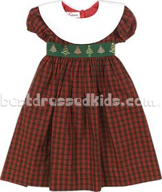 Newborn Plaid Trees Dress | Home| Holiday | Winter Holiday | SALE  This is precious