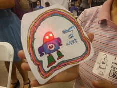 Electronic greeting cards: one girl's tribute to Makey the Robot.
