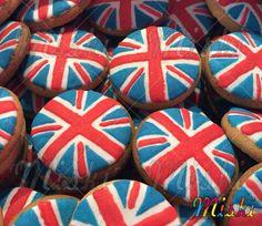 Bandera de Gran Bretaña hecha gallletas  #granBretaña #royalcookies #londonparty #flagcookie #redandblue #catering #londoncookies Cookies, Desserts, Food, Shortbread Cookies, Great Britain, Biscuits, Meal, Deserts, Essen