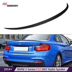 86.15$  Buy here - http://aliozw.worldwells.pw/go.php?t=32678552342 - 2 series f22 coupe f23 cabriolet  m style coupe cf spoiler carbon fiber rear trunk spoiler wings for bmw 2 series f87 m2 2014 + 86.15$