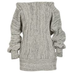 Cupshe The Price You Off the Shoulder Long Sweater (36 AUD) ❤ liked on Polyvore featuring tops, sweaters, puffed sleeve tops, long sweaters, long length sweaters, off the shoulder tops and long sweater tops