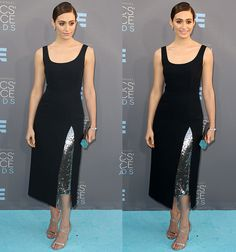 Emmy Rossum at the 21st Annual Critics' Choice Awards at The Barker Hangar in Santa Monica, California on January 17, 2016