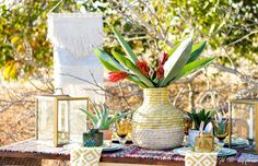 Tribal print Centerpieces, Table Decorations, Warm Autumn, Fall Weather, Tribal Prints, Place Settings, Looking Stunning, Tablescapes, Texture