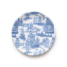 This set of 4 blue and white Chinoiserie melamine plates instantly elevates any table. Paired in a set of four, it's sure to dress up your tablescape. Sophisticated, versatile, and classic this kid-friendly set makes dinnertime chic. Chinese Prints, Melamine Dinnerware, Willow Pattern, Old Fashioned Glass, Blue Plates, Ballard Designs, Plate Sets, Paper Plates, Custom Pillows