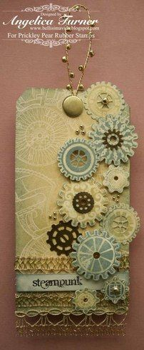 Steampunk Tag {Prickley Pear Rubber Stamps}