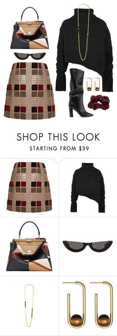"""Library Stacks"" by silhouetteoflight ❤ liked on Polyvore featuring Marco de Vincenzo, Ann Demeulemeester, Fendi, PAWAKA, Black, Astley Clarke and Accessorize"