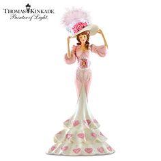 Thomas Kinkade Style Spun From Grace Figurine