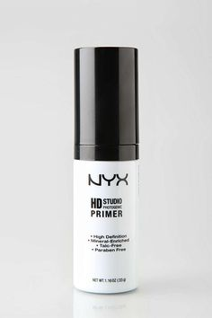 """Primer  """"NYX's entire HD line is well worth scooping up. I love this primer because it blurs lines and pores, and creates a hydrated base for foundation."""" — Phillip PicardiNYX High Definition Primer, $15, available at Urban Outfitters."""