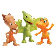 Based on the Jim Henson PBS show, The Dinosaur Train Collect all your favorite Dinosaur Train Characters Includes three plastic dinosaurs featured on the show. toys4mykids.com