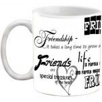 FRIENDSHIP - FRIENDS ARE SPECIAL TREASURES OF THE HEART QUOTES PRINTED COFFEE MUG