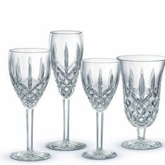 Waterford Araglin wine goblets and champagne flutes! Still my favorite pattern!