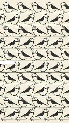 Patternatic, something-modern: Little Bird Repeat Pattern by...