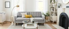 Guide to Small Space Decorating | west elm Living Room Update, Love Your Home, Curtains For Sale, Cozy Corner, Mid Century Modern Design, Decorating Small Spaces, Cozy House, West Elm, Furniture Design