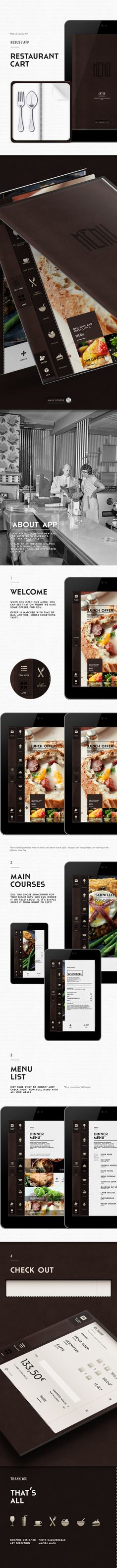 Restaurant App / MyntCart by Piotr Kazmierczak, via Behance