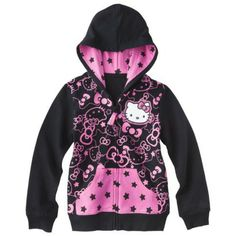 Hello Kitty Hello Style Girls' Sweatshirt -  Black