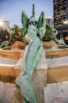 """Fountains On Dry"" Philadelphia PA Logan Circle #Canon - kdmorris photography"