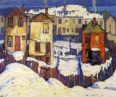 Lawren Harris - Group of Seven - Go Home Bay - National Art Gallery - Discovery Group Of Seven Artists, Group Of Seven Paintings, Winter Landscape, Landscape Art, Landscape Paintings, Canadian Painters, Canadian Artists, Emily Carr, Winter Painting