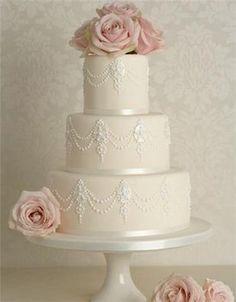 Wedding, Cake, Pink, White