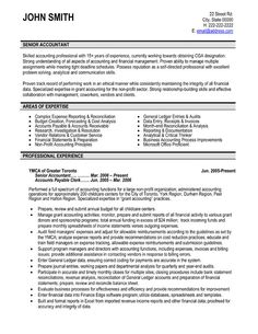 Senior Accountant Resume Format Resumecareer Info