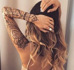 Image de girl, tattoo, and hair