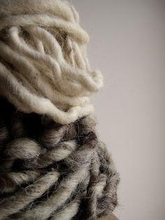 margadirube:  barsanworld: giant skeins of wool by Alice Bernardo on Flickr.