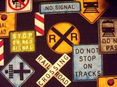 Hey, I found this really awesome Etsy listing at http://www.etsy.com/listing/151308539/train-signs-railroad-crossings-black