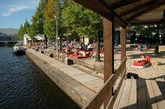 "Urban Beach in Amsterdam, ""Strand Zuid"" Holland Cities, Visit Holland, Urban Beaches, Holland Beach, Cosy Cafe, Visit Amsterdam, Koh Tao, Terraces, Food Festival"