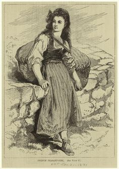 A French peasant girl, 1600s