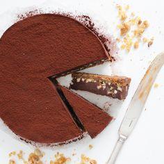Chocolate Truffle Cake with Caramelized Hazelnuts