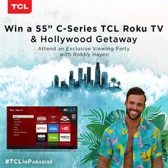Enter the TCL Hollywood Getaway Sweepstakes for a chance to win a trip for two to Las Angeles, CA Winner)! Win A Vacation, Cheap Tvs, Instant Win Games, Online Sweepstakes, New Netflix, Steve Harvey, Home Movies, Dating Humor, Best Tv