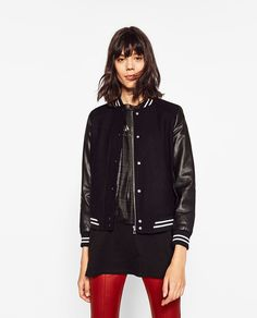 Image 2 of CONTRAST BOMBER JACKET from Zara