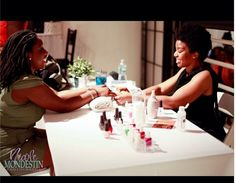 Manicures at #Manhattan #Spa #Party