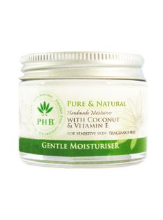 Gentle Moisturiser For Very Sensitive Skin With Coconut & Vitamin E - nourishes, protects and hydrates. Moisturizer For Sensitive Skin, Fruit And Veg, Moisturiser, Vitamin E, Pet Care, Allergies, Hair Care, Fragrance, Hair Care Tips