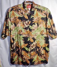 715fe424e Pau Hana Hawaii Mens Casual Shirt Size XXL Tropical Jungle Leaf Print Camp  Aloha #PauHana