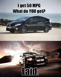 Muscle Car Memes: I get 50 MPG… – www. - Car World Truck Memes, Car Jokes, Car Humor, Ford Memes, Police Humor, Mustang Humor, Mustang Cars, Ford Mustangs, Mustang Quotes