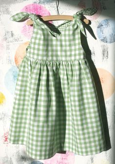 A classical girls dress shape from the We love our Rabbit Dress! Knotted on the shoulder with a teardrop detail in the back. Little Girl Outfits, Kids Outfits Girls, Toddler Girl Outfits, Toddler Dress, Baby Dress, Girls Dresses, Cute Kids Fashion, Girl Fashion, Toddler Fashion