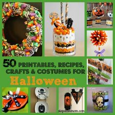 50 Halloween Crafts, Recipes, Printables and More!