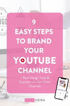 9 Easy steps to brand your YouTube Channel - Find the best tools to design the most attractive thumbnails, Listen to this episode of The YouTube Power Hour Podcast with Erika Vieira #YouTubeChannel #Branding #ErikaVieira Youtube Channel Name Ideas, Video Channel, Youtube Names, You Youtube, Beauty Channel Ideas, Youtube Without Ads, What Is Content Marketing, Beauty Youtubers, Youtube Banners
