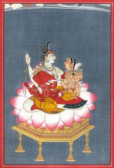 """hinducosmos: """"Shiva Family (via Exotic India) """""""