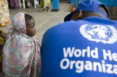 World Health Organization (WHO) in action.