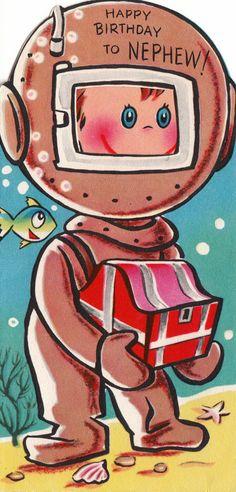 Items similar to Vintage Happy Birthday To Nephew Greetings Card on Etsy Vintage Birthday Cards, Vintage Greeting Cards, Birthday Greeting Cards, Vintage Postcards, Vintage Images, Birthday Greetings Friend, Birthday Wishes, Happy Birthday Nephew, Retro
