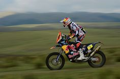 Cyril Despres of KTM Red Bull Rally Factory Team competes in stage 9 from Tucuman to Cordoba during the 2013 Dakar Rally on January 14 in Tucuman, Argentina.