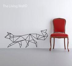 Geometric Fox Wall Decal, Geometric Animals Decals, Home Decor Wall Decals, Geometrics Vinyl Wall Stickers