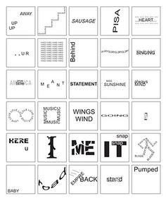 Fun little word puzzles.