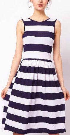 Club L Midi Stripe Dress