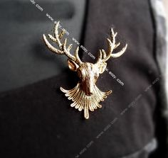 Deer Head Brooch